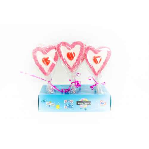DISPLAY 24 Brochettes HEARTPOP 60G CHA.BR.HEARTPOP Brochette de bonbons