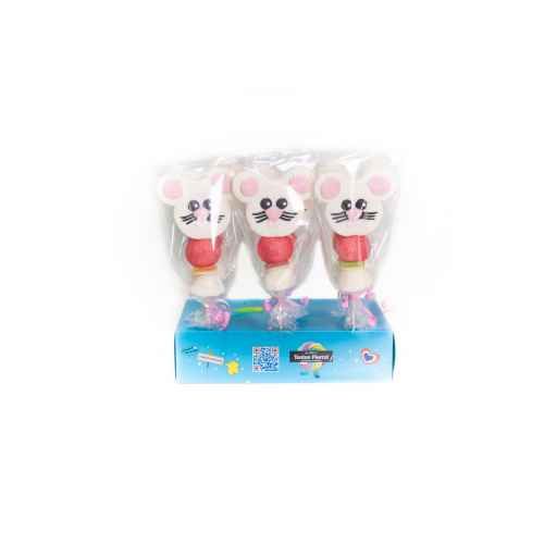 DISPLAY 24 SOURIS CHEESE 60G CHA.BR.CHEESE24 Brochette de bonbons